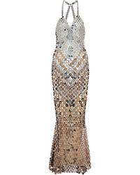 Paco Rabanne Exclusive To Mytheresa – Embellished Gown - Metallic