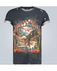 Balmain Camiseta rota estampada - Multicolor