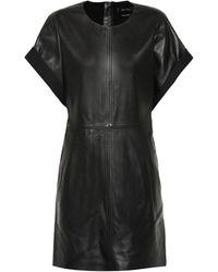 Isabel Marant Robe en cuir Costa - Noir