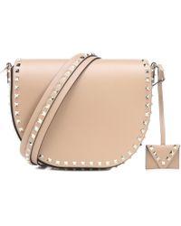 Valentino - Rockstud Leather Shoulder Bag - Lyst