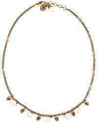 Alexander McQueen Collar de perlas artificiales y calaveras - Metálico