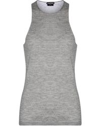 Tom Ford Cashmere And Silk Tank Top - Grey