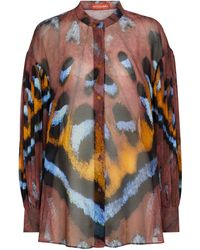 Altuzarra Blusa Patsy de georgette estampada - Multicolor