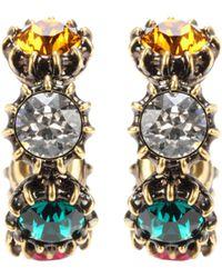 Gucci - Crystal Embellished Hoop Earrings - Lyst