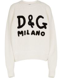 Dolce & Gabbana Jersey de cachemir acanalado - Negro