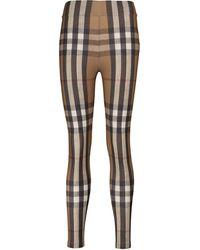 Burberry Legging Vintage à carreaux - Marron