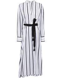 Brunello Cucinelli Robe rayée en coton - Multicolore