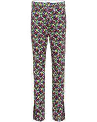 MSGM - Pantalones de algodón con estampado floral - Lyst