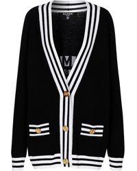 Balmain Cardigan en laine et cachemire mélangés - Noir
