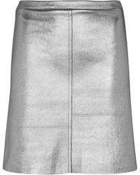 Stouls Mini-jupe Lucie en cuir métallisé