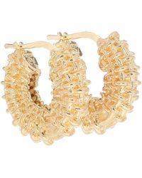Bottega Veneta 18kt Gold-plated Hoop Earrings - Metallic