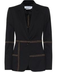 Gabriela Hearst Cadmus Herringbone-stitched Cotton Blazer - Black
