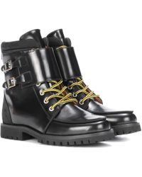 Ganni - Dora Leather Ankle Boots - Lyst