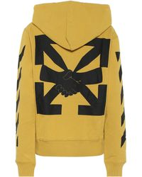 Off-White c/o Virgil Abloh Agreement Cotton-jersey Hoodie - Yellow