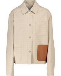 Loewe Anagram Jacquard Cotton Jacket - White