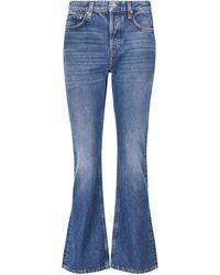 Totême High-rise Flared Cropped Jeans - Blue