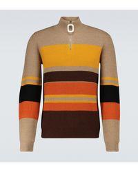 JW Anderson Jersey de lana con bloques de color - Naranja