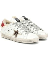Golden Goose Deluxe Brand Superstar Shearling-trimmed Trainers - White