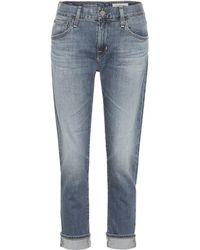 AG Jeans The Ex-boyfriend Mid-rise Slim Jeans - Blue