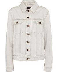 Saint Laurent Giacca di jeans - Bianco