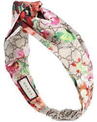 Gucci Fascia per capelli a stampa in seta - Multicolore