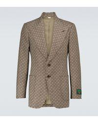 Gucci Blazer GG aus Wolle - Braun