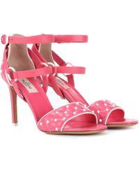 Valentino - Free Rockstud Spike 90 Leather Sandals - Lyst