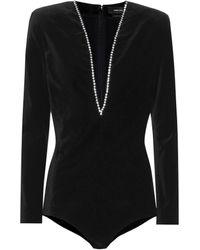 Isabel Marant Qabea Embellished Bodysuit - Black