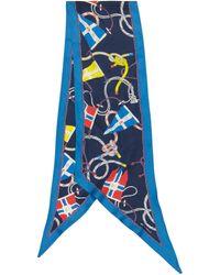 Etro Tuch aus Seiden-Twill - Blau