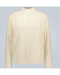 JW Anderson Patchwork-Pullover aus Baumwolle - Weiß