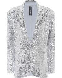 Norma Kamali Sequined Jersey Blazer - Metallic
