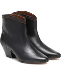 Isabel Marant Dacken Ankle Boots - Black