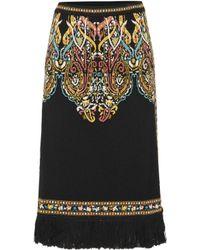 Etro - Wool-blend Skirt - Lyst