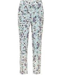 Erdem Gianna Floral Silk Crêpe De Chine Trousers - Multicolour