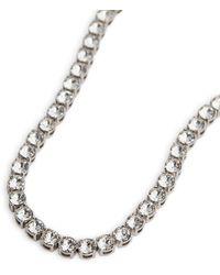 AMINA MUADDI Collar Tennis adornado con cristales - Metálico