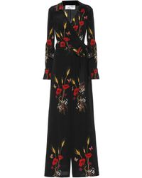 Valentino - Floral-printed Silk Jumpsuit - Lyst