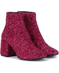 MM6 by Maison Martin Margiela Bead-embellished Ankle Boots - Pink