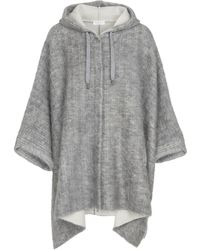 Brunello Cucinelli - Hooded Wool-blend Poncho - Lyst