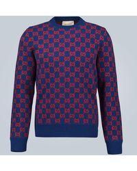 Gucci GG Wool Jumper - Blue