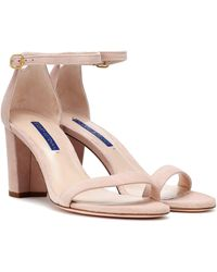 Stuart Weitzman Nearlynude Suede Sandals - Multicolour