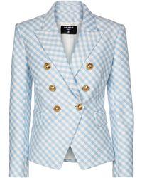 Balmain Blazer de doble botonadura - Azul