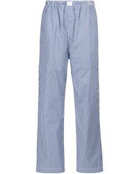 Balenciaga Pantalones anchos de algodón - Azul
