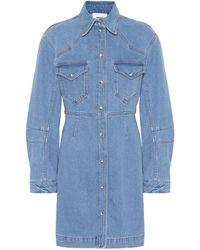 Nanushka Vestido camisero Vilma de jeans - Azul
