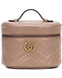 Gucci Beauty case GG Marmont Small in pelle - Multicolore