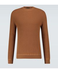 Ermenegildo Zegna Jersey de lana y cachemir - Marrón