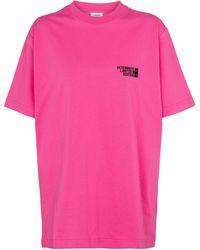Vetements Logo Cotton Jersey T-shirt - Pink