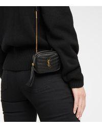 Saint Laurent Sac ceinture Lou Baby en cuir - Noir