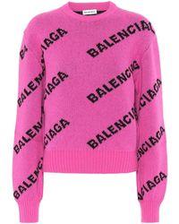 Balenciaga Pullover in lana - Rosa