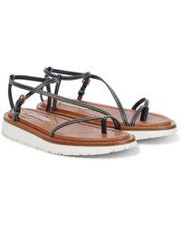 Zimmermann Leather Sandals - Black