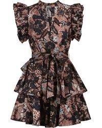 Ulla Johnson Mini robe Honoria en popeline de coton imprimé - Multicolore